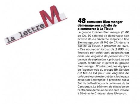 La Lettre M Mai 2015