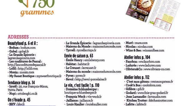 750 Grammes Le Mag - Janvier 2016