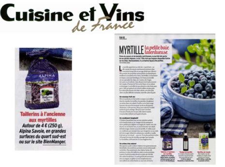 Cuisine et vins de France Myrtille